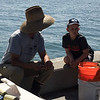Logan had lots of questions for the fisherman....luckily this guy took the time to answer all of them!