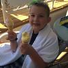 Double fisting the ice cream cones!