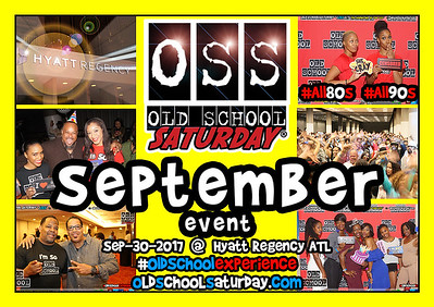 Next Event:  SEP-30-2017 @ The Hyatt.  Full info, tickets, VIP Tables, Bday Shouts, FAQs, Customer Service, and more:  www.oldschoolsaturday.com
