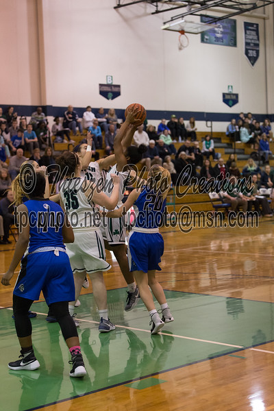 Indianapolis City Girls Basketball Tournament, between Cathedral Lady Irish and Bishop Chartard Lady Trojans held at the Cathedral High School Gym, in Indianapolis, IN. Photo by EricThieszen.