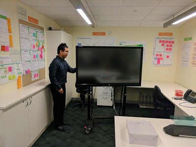 20170309 Work's big screen