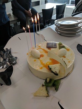 20170808 Angela's birthday, eclairs and such, and friday arvo drinks