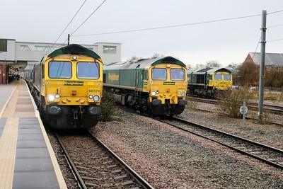 66571 4m88 Felixstowe-Crewe, 66544 4m63 Felixstowe-Ditton and 66599 4m86 Felixstowe-Lawley St