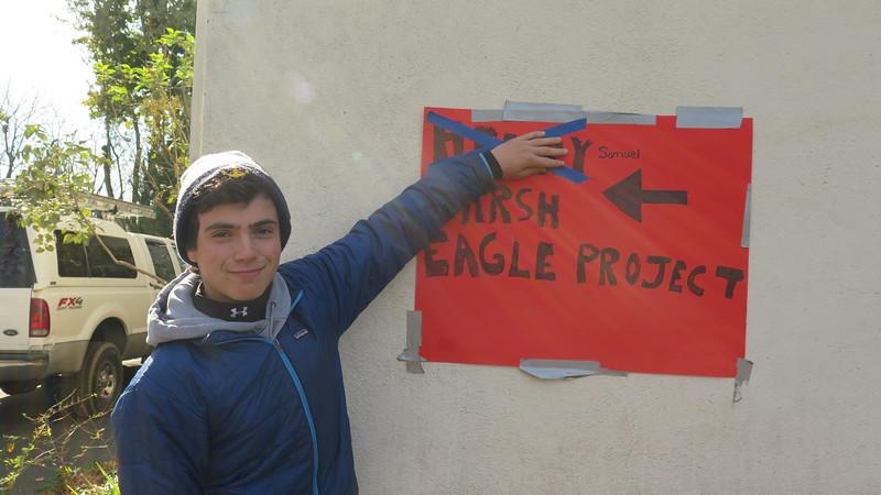 Sam's Eagle Scout Service Project