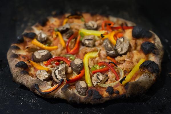 Pizza 6: Sausage, Pepper, Mushroom