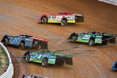 Scott Bloomquist (0), Tim McCreadie (39), Jimmy Owens (20), and Josh Richards (1)