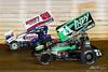 50th Annual Tuscarora 50 - All Star Circuit of Champions - Port Royal Speedway - 71 Joey Saldana, 29 Danny Dietrich