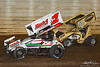 50th Annual Tuscarora 50 - All Star Circuit of Champions - Port Royal Speedway - m1 Mark Smith, 98 Carl Bowser