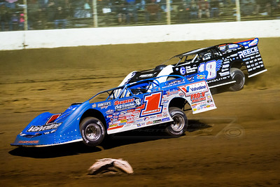 Brandon Sheppard (1) and Scott Bloomquist (18)