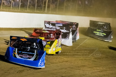 Gregg Satterlee (22), RJ Conley (71C), Scott Bloomquist (18), Colton Flinner (48) and Tyler Erb (91)