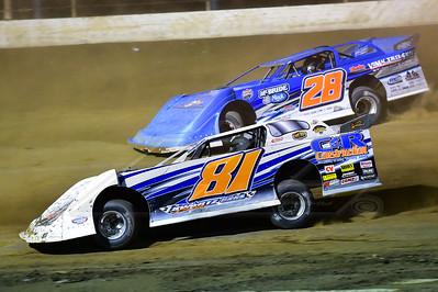 Brandon Fouts (81) and Dennis Erb, Jr. (28)