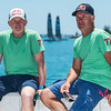 13/06/2017 - Bermuda (BDA) - 35th America's Cup Bermuda 2017 - Red Bull Youth America's Cup. Double gold olympic medalists, America's Cup World Series sailors, Red Bull Sailing Team skipper and tactician and Sports Directors of the Red Bull Youth America's Cup Roman Hagara and Hans-Peter Steinacher pose for a portrait ahead of day two of the Red Bull Youth America's Cup on June 13, 2017 in Hamilton, Bermuda.