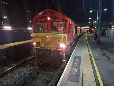 66020 awaiting departure from St.Albans on the ECS back to Wembley