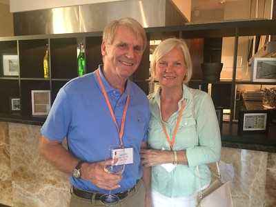 Tim and Susan at the welcome cocktail reception - Joy Allen