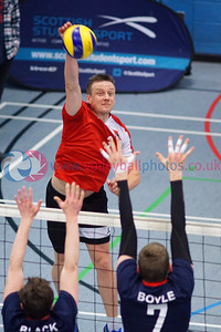 John Syer Grand Prix Finals, Institute of Sport and Exercise, University of Dundee, Sun 12th Feb 2017.  Men: CoE 3 v 0 City of Glasgow Ragazzi (25-17, 25-23, 26-24)  Women: Su Ragazzi 3 v 1 University of Edinburgh (20-25, 25-17, 25-17, 25-16)  © Michael McConville  http://www.volleyballphotos.co.uk/2017/SCO/Cups/20170212-jsgp