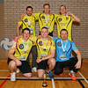 Livingston Lizards, Scottish Volleyball Association Men's SVL2 Champions 2016-17, Sat 29th Apr 2017, Queensferry HS.  © Michael McConville  http://www.volleyballphotos.co.uk/2017/SCO/League/20170429-presentations