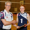 Scottish Volleyball Association Final Whistle Media Women's Player of the Year Awards 2016-17, Sat 29th Apr 2017, Queensferry HS. Jen Thom (3rd Place).  © Michael McConville  http://www.volleyballphotos.co.uk/2017/SCO/League/20170429-presentations