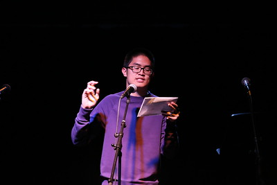 Kenneth Dizon performs his stand-up comedy for the Studio Showcase.