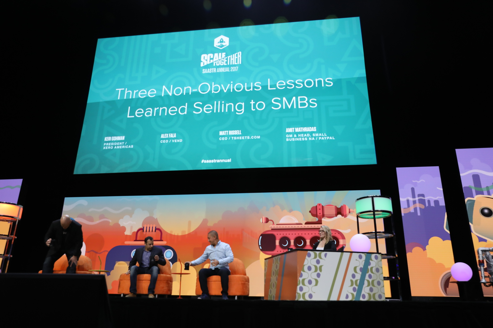 Three Non-Obvious Lessons Learned Selling to SMBs Keri Gohman PRESIDENT / AMERICAS AT XERO  Alex Fala CEO / VEND Matt Rissell CEO / TSHEETS.COM  Amit Mathradas GM & HEAD,SMALL BUSINESS NA / PAYPAL