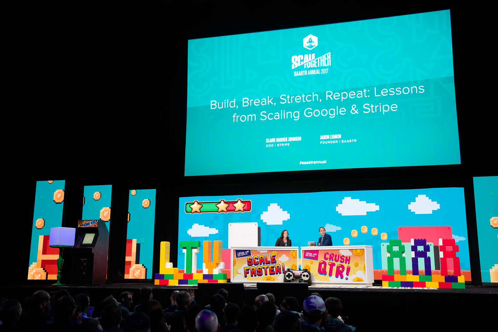 Build, Break, Stretch, Repeat: Lessons from Scaling Google & Stripe  Claire Hughes Johnson COO / STRIPE Jason Lemkin FOUNDER / SAASTR