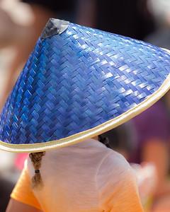 Blue Coolie Hat