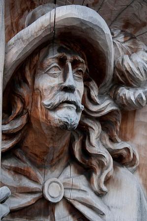 German Woodcarving in Cemetery