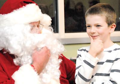 Santa Claus visits Garrison