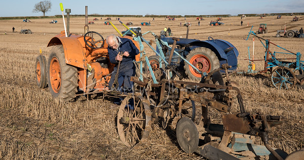 Field full of tractors