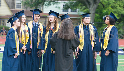The NFA Madrigals perform as Newburgh Free Academy held its 152nd Commencement Exercises for the graduating Class of 2017 on Academy Field in the City of Newburgh, NY on Thursday, June 22, 2017. Hudson Valley Press/CHUCK STEWART, JR.