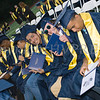 Newburgh Free Academy graduates are all smiles after receiving their diplomas during the 152nd Commencement Exercises for the graduating Class of 2017 on Academy Field in the City of Newburgh, NY on Thursday, June 22, 2017. Hudson Valley Press/CHUCK STEWART, JR.