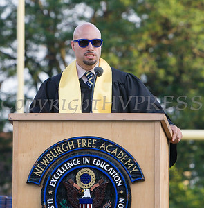 Superintendent of Schools Dr. Roberto Padilla addresses students during the Newburgh Free Academy 152nd Commencement Exercises for the graduating Class of 2017 on Academy Field in the City of Newburgh, NY on Thursday, June 22, 2017. Hudson Valley Press/CHUCK STEWART, JR.