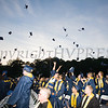 Newburgh Free Academy graduates toss their caps during the 152nd Commencement Exercises for the graduating Class of 2017 on Academy Field in the City of Newburgh, NY on Thursday, June 22, 2017. Hudson Valley Press/CHUCK STEWART, JR.