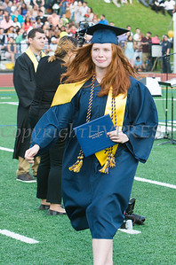 Valedictorian Katherine Gravel is all smiles after recieving her diploma during the Newburgh Free Academy 152nd Commencement Exercises for the graduating Class of 2017 on Academy Field in the City of Newburgh, NY on Thursday, June 22, 2017. Hudson Valley Press/CHUCK STEWART, JR.