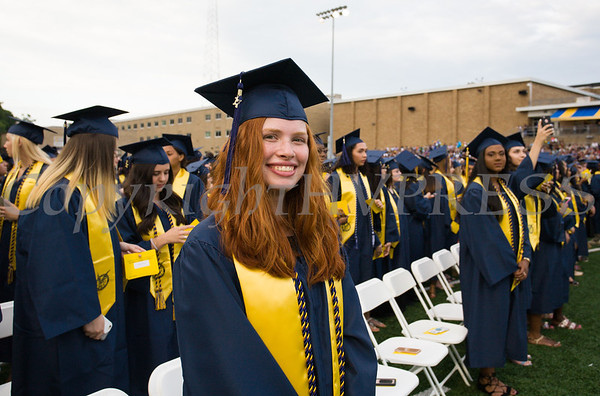 Valedictorian Katherine Gravel is all smiles as Newburgh Free Academy held its 152nd Commencement Exercises for the graduating Class of 2017 on Academy Field in the City of Newburgh, NY on Thursday, June 22, 2017. Hudson Valley Press/CHUCK STEWART, JR.