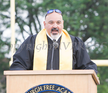 Opening remarks were presented by Newburgh Free Academy Principal Raul Rodriguez during Newburgh Free Academy's 152nd Commencement Exercises for the graduating Class of 2017 on Academy Field in the City of Newburgh, NY on Thursday, June 22, 2017. Hudson Valley Press/CHUCK STEWART, JR.
