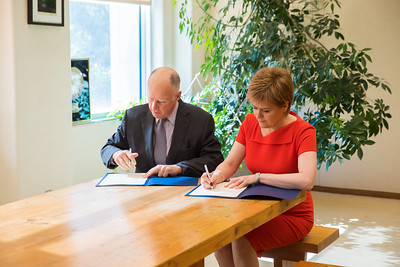 Jerry Brown Governor of California, Nicola Sturgeon First Minister of Scotland