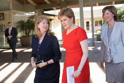 Lena Wilson CEO of Scottish Enterprise, Nicola Sturgeon First Minister of Scotland