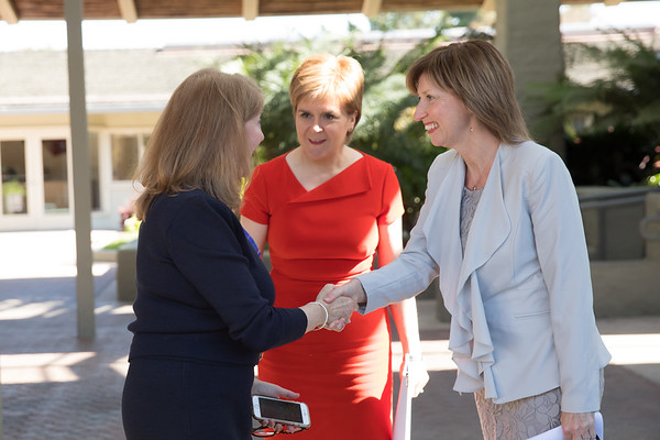 Lena Wilson CEO of Scottish Enterprise, Nicola Sturgeon First Minister of Scotland