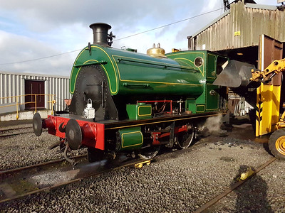 0-4-0st 1438 Our haulage for the day being coaled at the half way point. 28/01/17