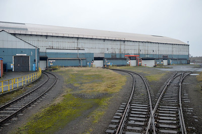 View of the mothballed part of the works.