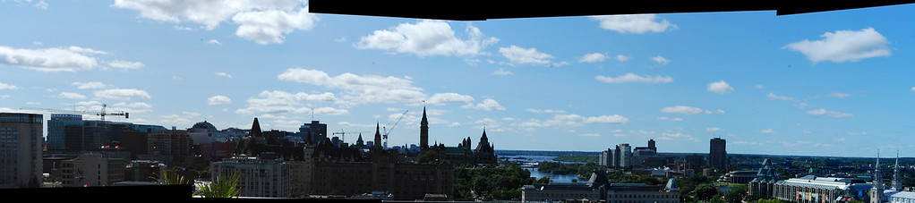 Panoramic from top of Andaz Motel - Composite Image
