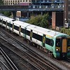 Southern Class 377 Electrostar no. 377415 approaching East Croydon from the south.