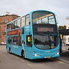 Arriva Volvo Wright Eclipse Gemini FJ58KXY 4224 in the new Arriva livery at Derby station on the 1.
