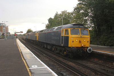 47812 Basingstoke 15/09/17 4M72 Eastleigh to Wembley with 47815 and 47813