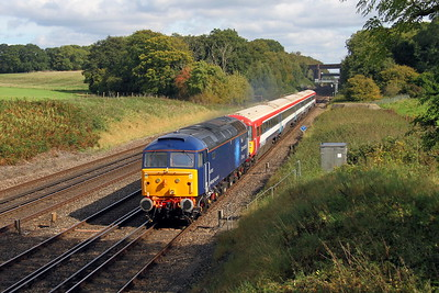 47813 Potbridge 28/09/17 5O86 Ely Papworth Sidings to Bournemouth with 2422
