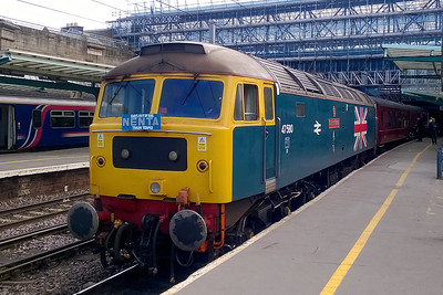 47580 is pictured again on arrival at Carlisle with 1Z64. This was my first run over the S&C since the line reopened at the end of March following repairs to the landslip at Eden Brows (02/09/2017)