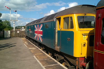 47580 catches some sunshine during a set-down at Appleby where some of the train's passengers were lighting for a coach trip into the Lake District (02/09/2017)