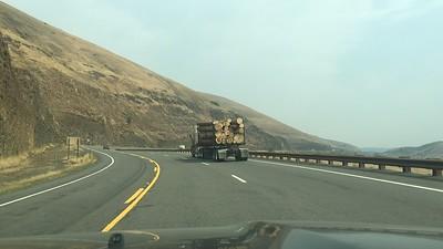 Time lapse of some time through Idaho, passing fire crew along the way