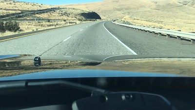 Time lapse of our descent into the Yakima valley. Mt Rainier visible if you're quick!