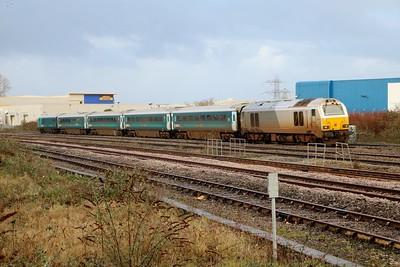 82306 tnt 67014 0951/1v91 Holyhead-Cardiff passes Cardiff Splott Jct   29/12/17